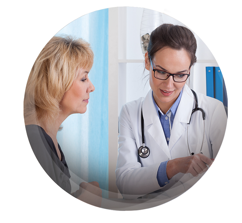 Woman physician explaining to her patient